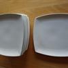 12 stk. firkantet tallerkener 18cm x 18cm kun brugt MEGET få gange derfor som nye sælges pr. stk. fo..